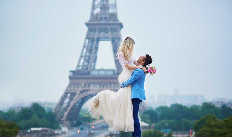 Start you honeymoon together in one of the most romantic places in the world.   Come experience the one and only city of love... Paris